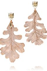 Tory Burch Oak Leaf Drop Earring - Lyst