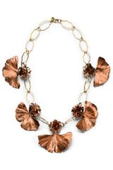 Tory Burch Gingko Leaf Necklace - Lyst
