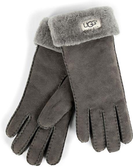 da8fd319c64 Grey Ugg Turn Cuff Gloves