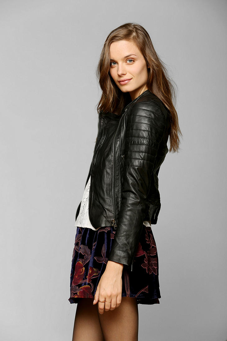 Lyst Urban Outfitters Muubaa Abila Quilted Leather Moto Jacket In