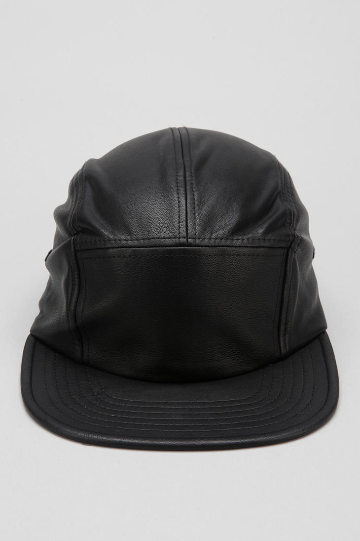 804714c45e1 Urban outfitters Rosin Vegan Leather 5 Panel Hat in Black for Men .