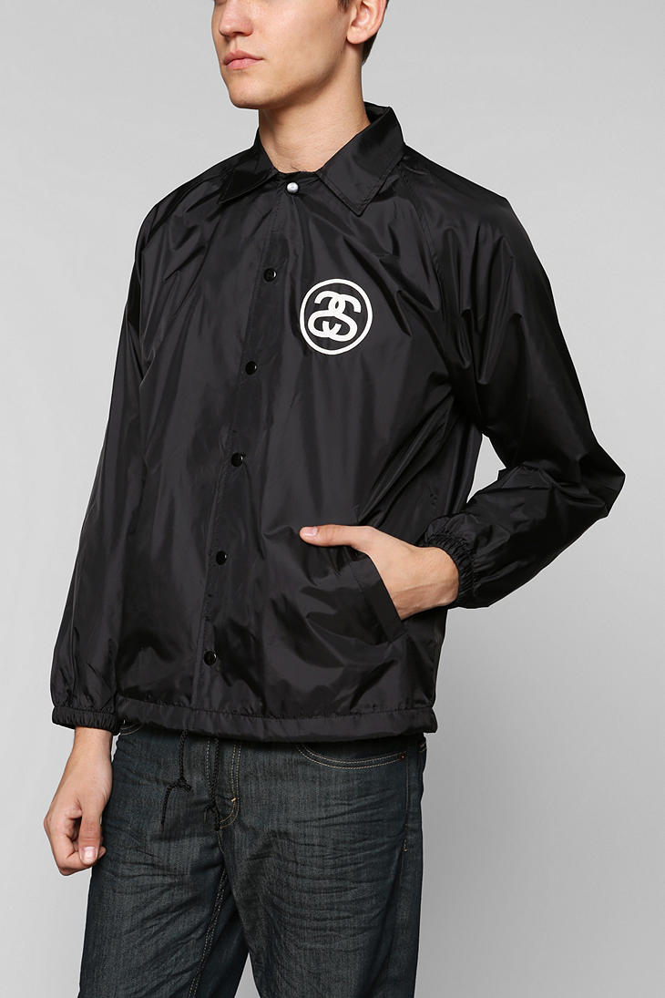 Urban outfitters Stussy Croc Coaches Jacket in Black for Men | Lyst
