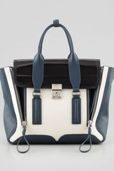 3.1 Phillip Lim Pashli Medium Satchel Bag Steelblackoff White - Lyst