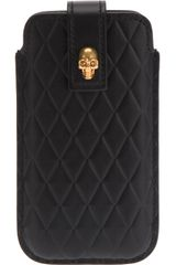 Alexander McQueen Quilted Iphone Holder - Lyst