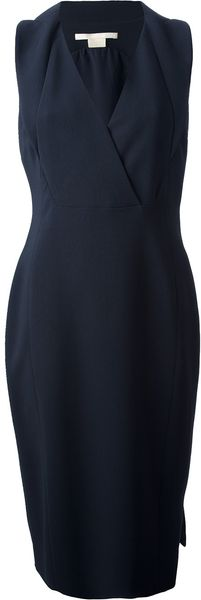Antonio Berardi Wrap Style Fitted Dress - Lyst
