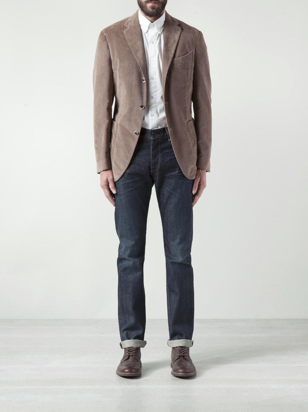 Lyst Boglioli Corduroy Jacket In Natural For Men