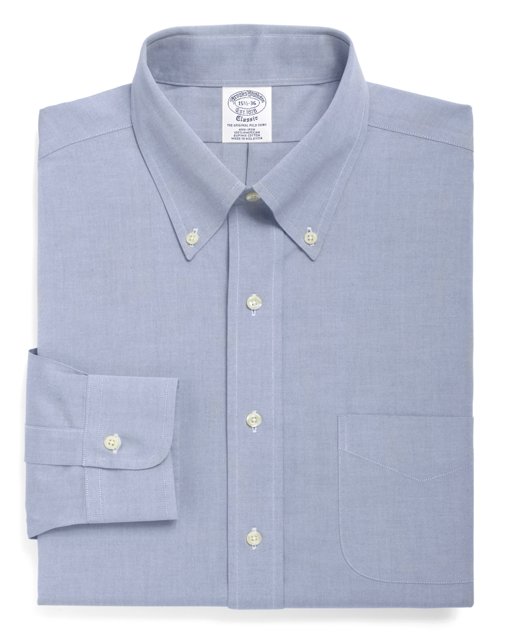 Brooks Brothers Non Iron Regent Fit Button Down Collar