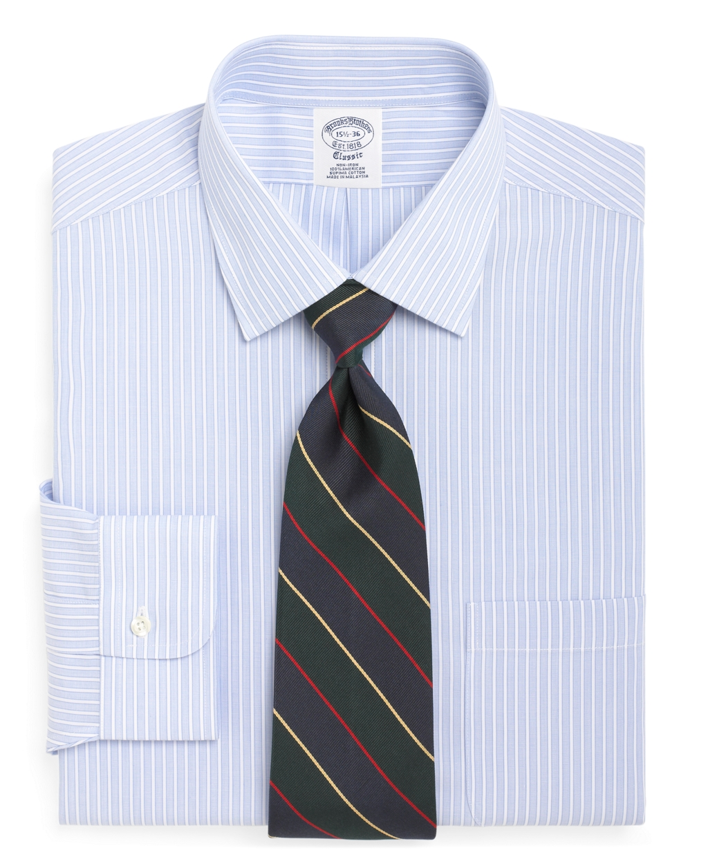 Brooks Brothers Non Iron Regent Fit Ground Stripe Dress