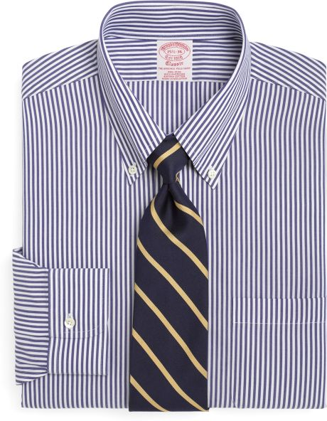 Brooks brothers non iron regent fit bengal stripe dress for Brooks brothers non iron shirt review