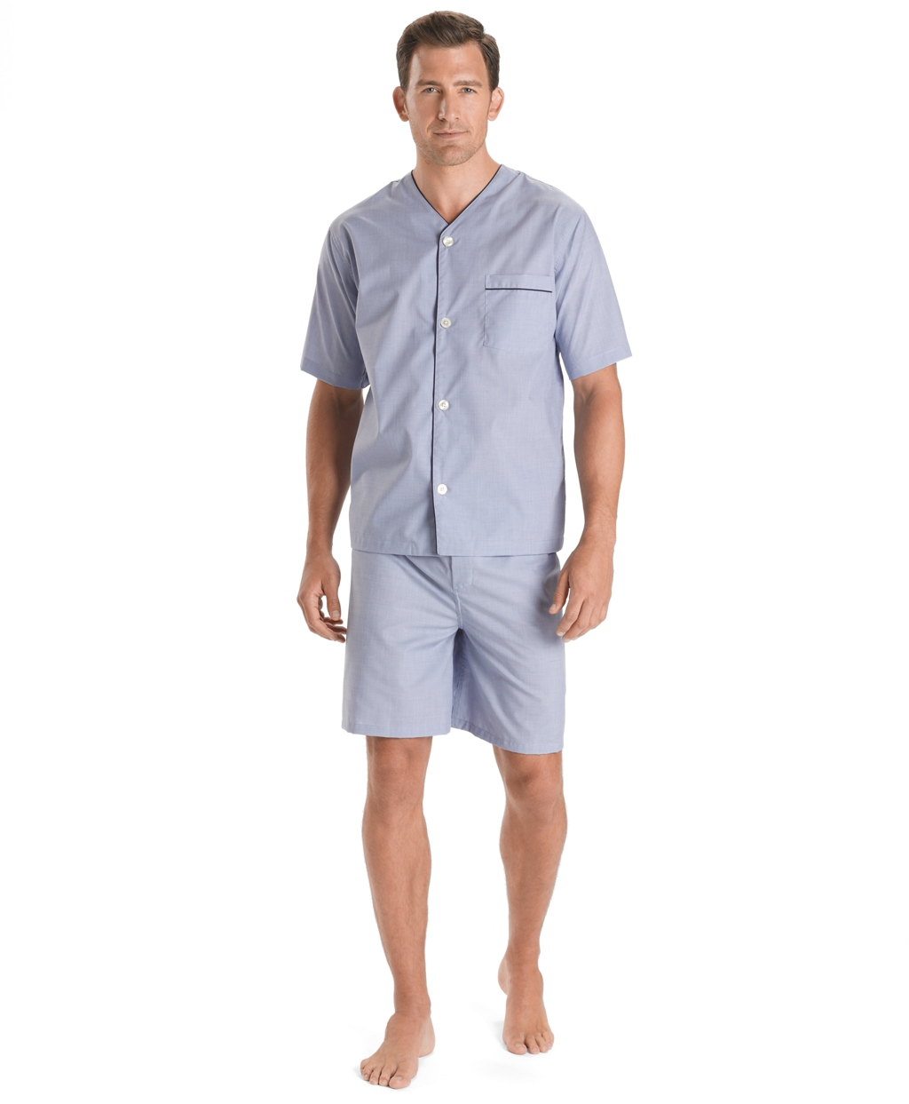 Men's Short Pajamas It doesn't matter what time of year it is, short pajamas for men are always in style. Pajama shorts are especially great for shorter guys.