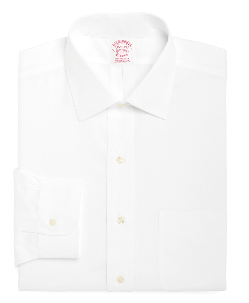 Brooks Brothers Traditional Fit Spread Collar Dress Shirt