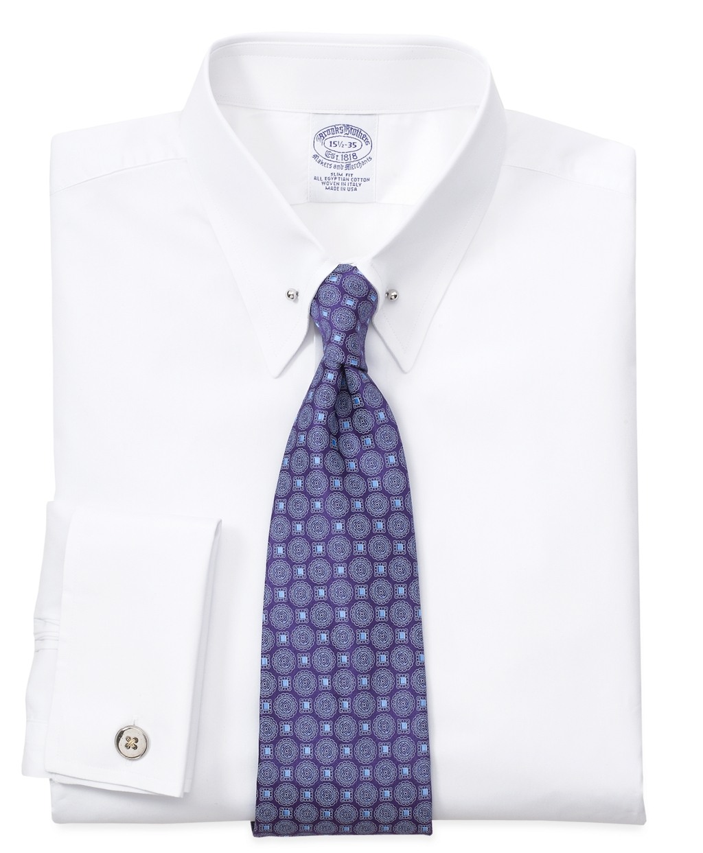 Lyst Brooks Brothers Regent Fit Tie Bar Collar French