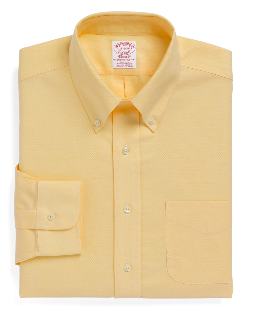 Brooks brothers non iron milano fit brookscool button Brooks brothers shirt size guide