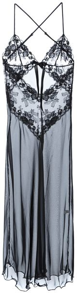 Christies Sheer Lace Long Slip - Lyst