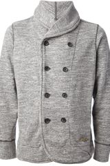 Diesel Double Breasted Jersey Cardigan - Lyst