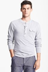 Gant By Michael Bastian Pocket Henley with Quilted Elbow Patches - Lyst