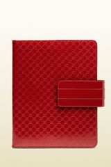 Gucci Microssima Patent Leather Ipad Case - Lyst