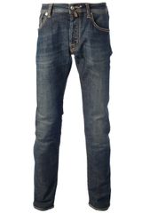 Jacob Cohen Washed Denim Jeans - Lyst
