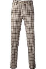 Jacob Cohen Check Trouser - Lyst