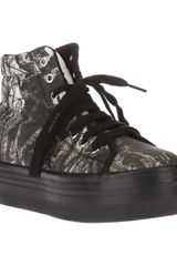 Jeffrey Campbell Homg Creepy Tree Printed Wedge Trainer - Lyst