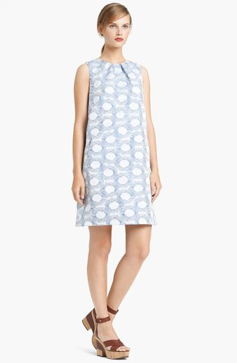 Lida Baday Graphic Jacquard Shift Dress - Lyst