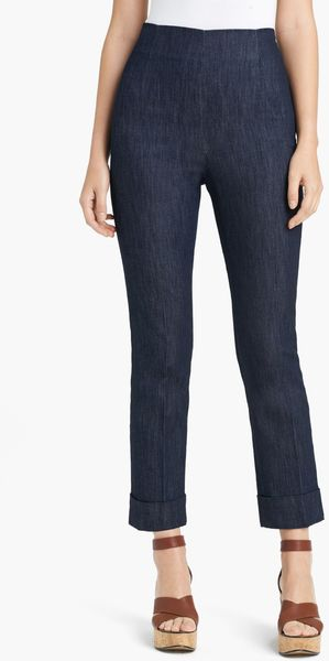 Lida Baday Crop Denim Pants - Lyst