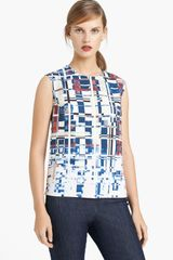 Lida Baday Print Scuba Knit Top - Lyst