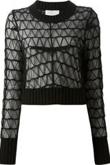 Maison Martin Margiela Sheer Lace Sweater - Lyst