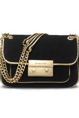 Michael by Michael Kors Small Sloan Suede Shoulder Flap Bag - Lyst