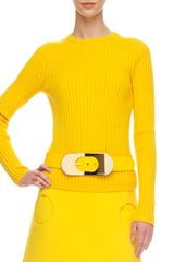 Michael Kors Ribbed Wool Sweater - Lyst