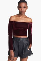 Mink Pink Seeing The Ex Off the shoulder Crop Top - Lyst