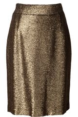 Nili Lotan Foil Pencil Skirt - Lyst