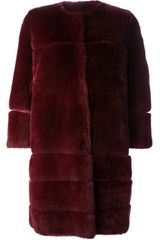 P.a.r.o.s.h. Heidi Rabbit Fur Coat - Lyst