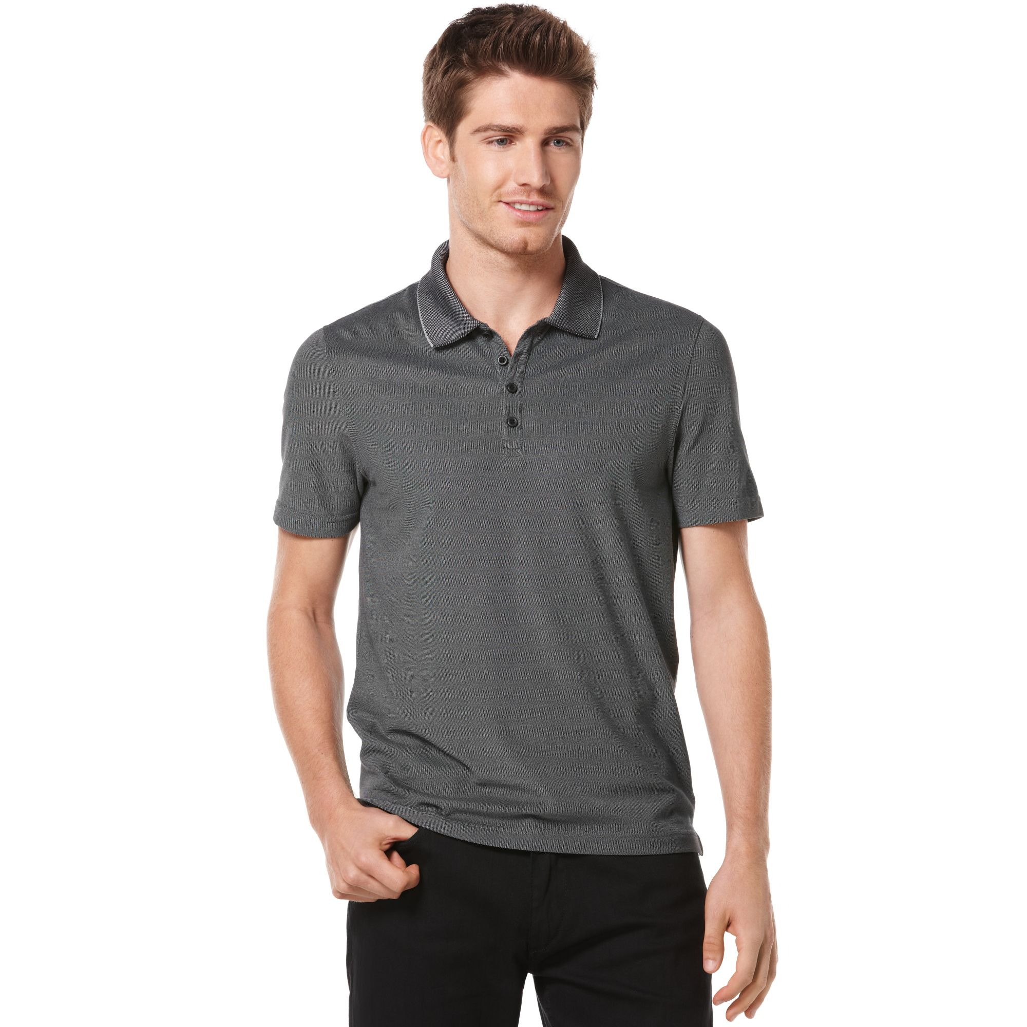 9997141695 Lyst - Perry Ellis Iridescent Polo in Gray for Men