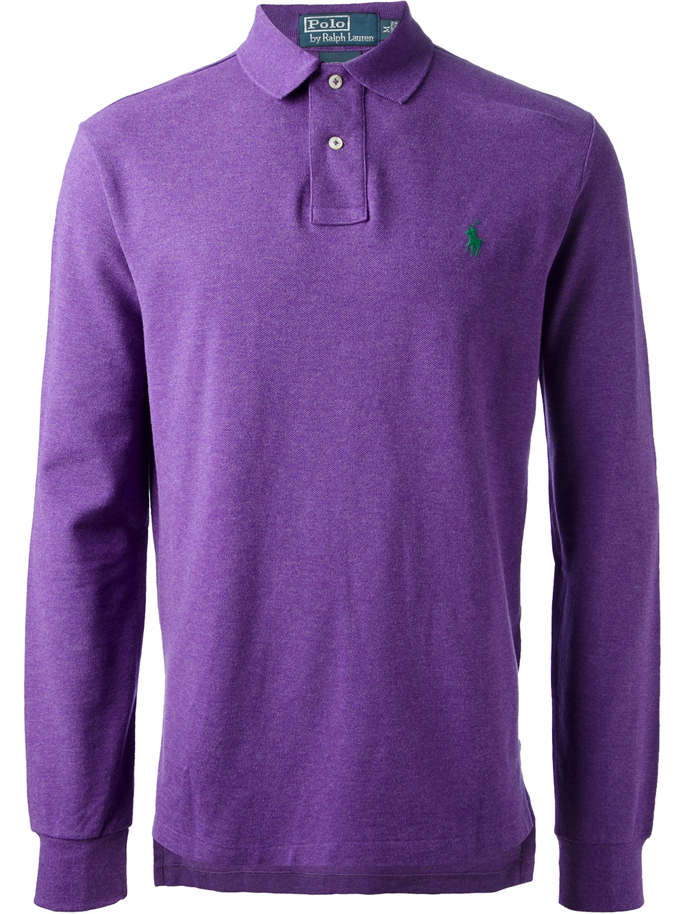 Lyst Polo Ralph Lauren Long Sleeve Polo Shirt In Purple For Men