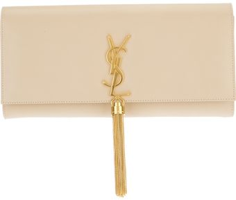 Saint Laurent Casandra Monogram Clutch - Lyst