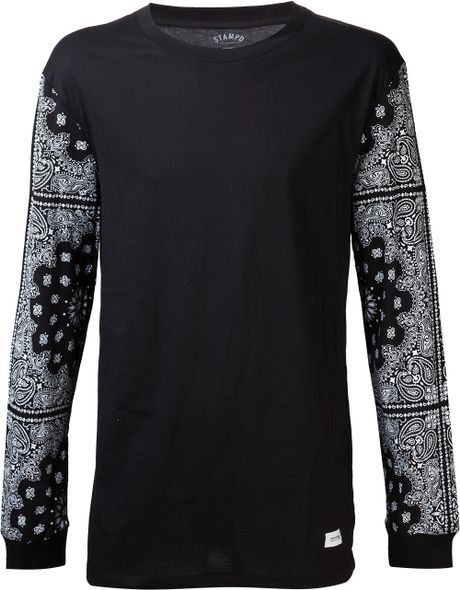Stampd 39 Paisley Bandana Pattern Tshirt In Black For Men Lyst