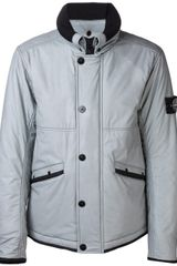 Stone Island Zip Up Jacket - Lyst