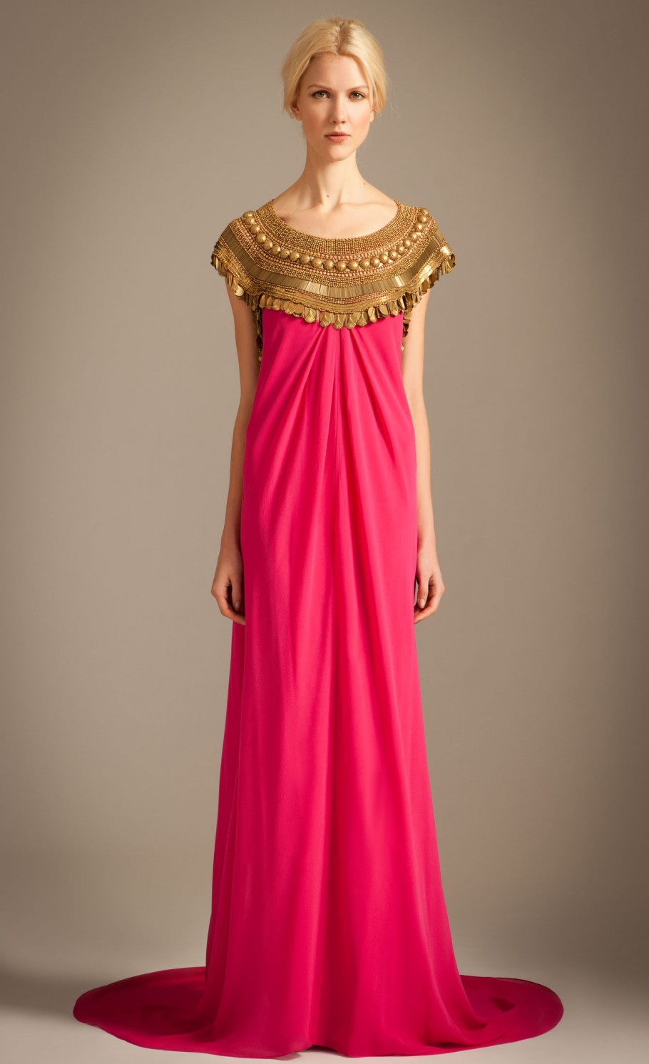 Lyst - Temperley London Goddess Dress in Pink