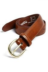 Topman Tan Faux Leather Belt - Lyst