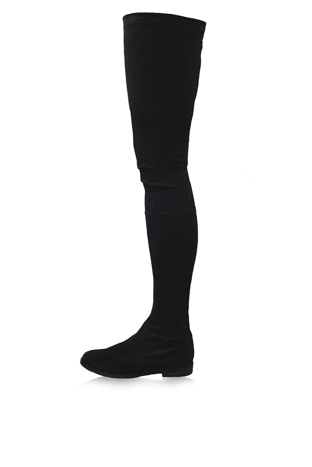 topshop vesper thigh high stretch suede boots by kurt
