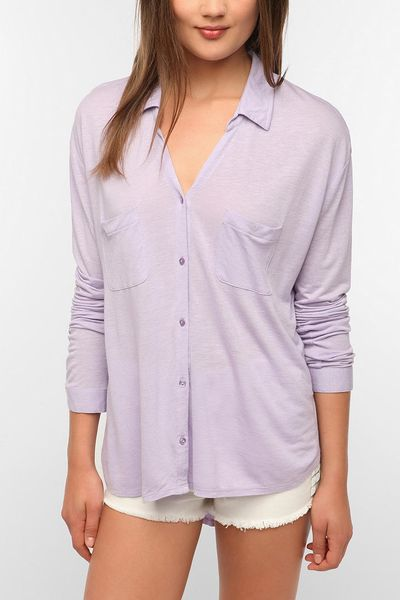 urban outfitters staring at stars button down knit shirt
