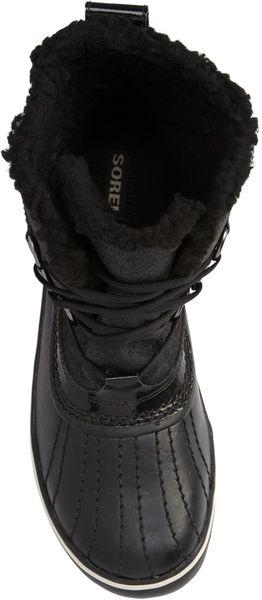 Sorel Tivoli Glitter Waterproof Boots In Black Black