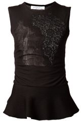 Viktor & Rolf Lace Peplum Sleeveless Top - Lyst