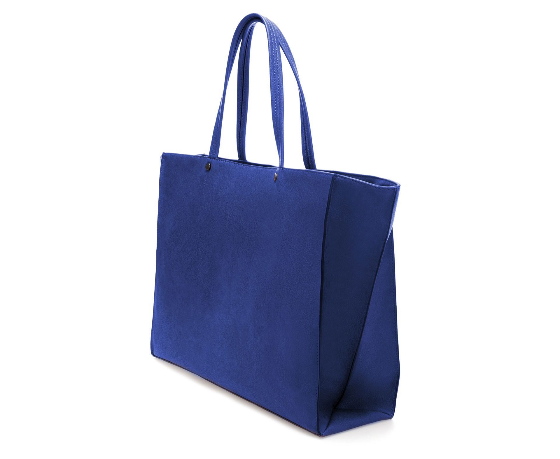 Zara Plain Shopper Bag in Blue | Lyst