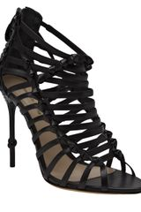 Alexandre Birman Twisted Cut Out Sandal - Lyst