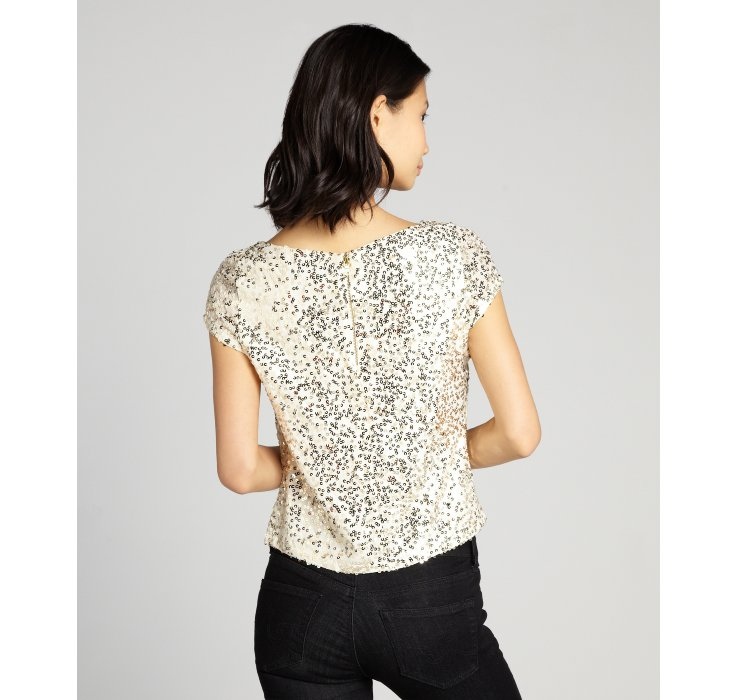Gallery. Previously sold at: Bluefly · Women's Gold Sequin Tops