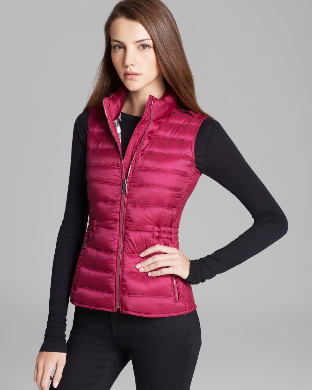 Lyst Burberry Brit Cranstead Quilted Vest In Pink