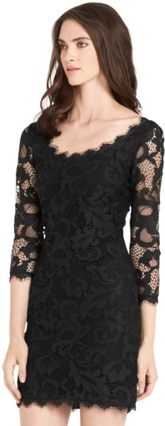 Where To Buy Dvf Zarita Long Lace Dress Scoopneck Lace Dress in