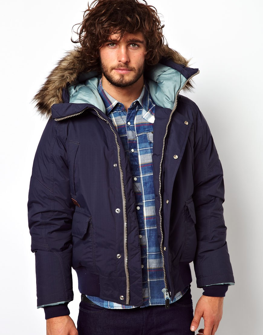 Lyst G Star Raw Quilted Bomber Jacket Mountain Hooded